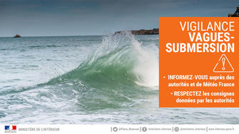 "Vigilance Orange ""Vagues-submersion"""